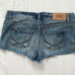 PINK Victoria's Secret Shorts - VS PINK denim cutoffs